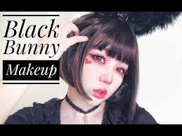 black bunny makeup tutorial