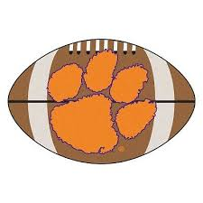 clemson tigers 22 x 35 football shaped