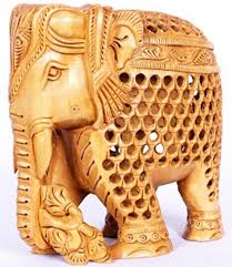 for this sandal wood undercut elephant here