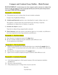 examples of a compare and contrast essay outline docoments ojazlink compare contrast essay outline comparison and