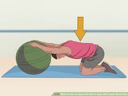 image led use an exercise ball to help with lower back pain step 7