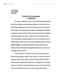 cinematography essay cinematography essay papi ip cinematography  editing and cinematography in fight club university media page zoom in