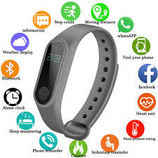 Online Shop NEW <b>Smart Watch M2</b> Sport Band Heart Rate Monitor ...