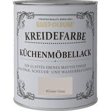 Rust Oleum Kreidefarbe Küchenmöbellack Winter Grau Matt 750 Ml