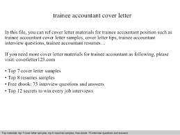 trainee accountant cover lettertrainee accountant cover letter in this file  you can ref cover letter materials for trainee