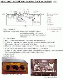 antenna hf vhf portable antenna tuner circuit schematic