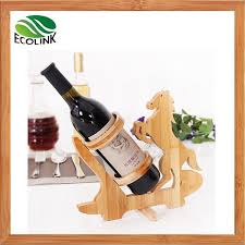 bamboo tabletop wine bottle display rack holder stand