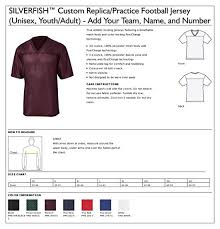 Custom Replica Practice Football Jersey Unisex Youth Adult Add Your Team Name And Number