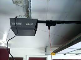 garage door trolley gets stuck opener carriage not moving garage door trolley opener carriage