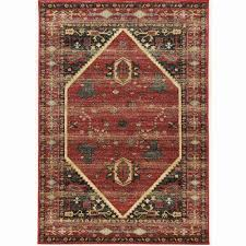red and black area rugs luxury linon powerloomed se hexagon red polyester rug 3 x 5