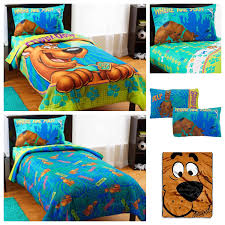 wb scooby doo 5 piece bed in a bag kids twin bedding set reversible comforter sheets pillow case plush blanket co uk kitchen home