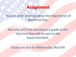 memorial day what is memorial day arlington national cemetery  assignment you will write an essay about the importance of memorial day