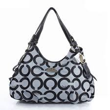 Coach Fashion Signature Medium Grey Shoulder Bags ERC  BESTSALE  COACH