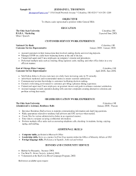 Resume Example Customer Service Representative With Regard To