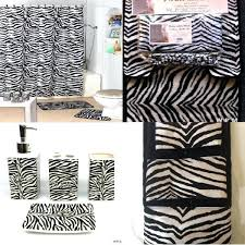 animal print shower curtain brown zebra bathroom set bath accessories set black zebra animal print bathroom rugs interior decor home