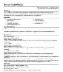 Procurement Officer Resume Sample Resumes Misc Livecareer