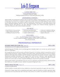 Fantastic Sample Of Licensed Practical Nurse Resume Pictures