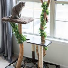 Chic cat furniture Diy Cat Tree Made From Natural Materials Trend Hunter 11 Awesome Diy Cat Furniture Ideas The Family Handyman