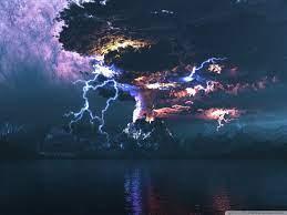 Volcano Eruption Lightning Ultra HD ...