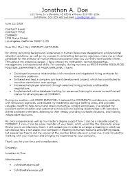Sample Human Resources Cover Letters Key Components To A Human Resources Cover Letter Career