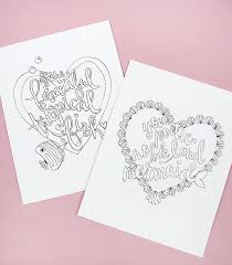 printable coloring cards for galentine s day print and color these cute cards for your friend s