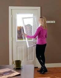add window to door decorative glass