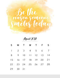 march 2018 es calendar april 2018 calendar with inspirational es