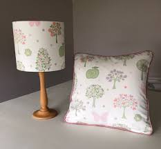 trees and erflies cushion in laura ashley fabric esme handcrafted pastel colours girls nursery girls bedroom girls playroom
