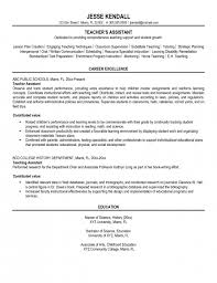 Sample Resume For Teacher Assistant | Sample Resume And Free