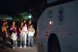 more than 20 migrant families from central america were dropped off at a phoenix church by in a department of homeland security bus the night of tuesday
