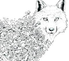 Coloring Pages Wolf Coloring Book Online Page By On Mandala Pages