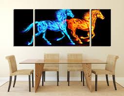 piece multi panel canvas horse canvas photography wildlife wall dining room artwork modern ideas wildlife wall