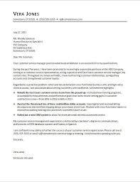 Cover Letter For Client Service Representative Customer Service