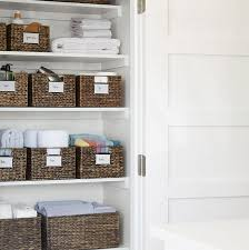 an organized bathroom closet will bring peace to your whole space