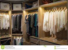 walk in closet lighting. Download Luxury Walk In Closet / Dressing Room With Lighting Stock Image - Of Dresser