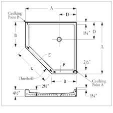 corner shower stall dimensions. Simple Corner Neo Angle Terrazzo Shower Receptor For Corner Installation With 12 To Corner Shower Stall Dimensions