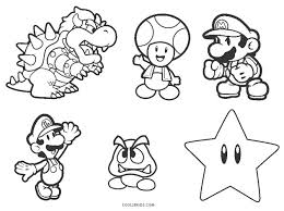 The character of the plumber super mario, accompanied by his brother luigi, appeared for the first time in 1985, in a video game released on the flagship console of the time: Free Printable Mario Brothers Coloring Pages For Kids