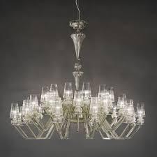 carved crystal chandelier albatros in teak color