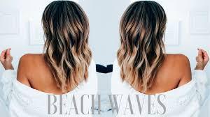 how to create beachy waves on medium length hair ashley bloomfield