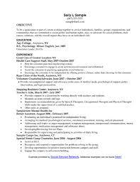 Resume Letter Objective Social Work Resume Objective Statement