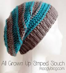 Slouch Hat Crochet Pattern Interesting All Grown Up Striped Slouchy Hat Yarn Galore Pinterest Slouchy