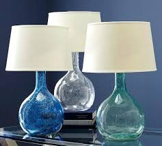 aqua glass lamp colored glass table lamp aqua sea glass lamp aqua glass lamp aqua glass table