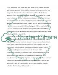 sickle cell disease research proposal example topics and well  sickle cell disease essay example