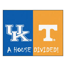 ncaa cky tennessee house divided 3 ft x 4 ft area rug