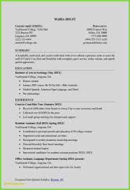 College Resume Format Sample Resume Template College Graduate Free