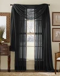 Unique Black And White Curtains Sheer Panel Intended Design