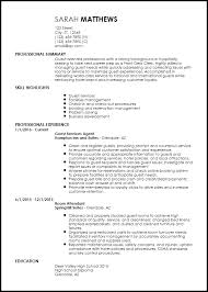 I Need A Resume Template Awesome Free EntryLevel Hotel Hospitality Resume Templates ResumeNow