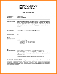 Hotel Front Desk Clerk Resume Examples Templates Simple Pics For