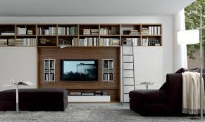 Living Room: - Tv Wall Unit Black Gloss