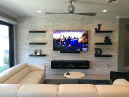tv on wall lofty design floating shelves for equipment components accessories boxes wall mount full motion